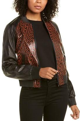 Missoni Leather Bomber Jacket