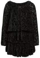 Kas Ember Velvet Burnout Smocked Dress