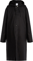 Vetements X Mackintosh cotton oversized hooded raincoat