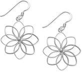 Unwritten Sterling Silver Earrings, Open Flower Drop Earrings