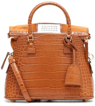 Maison Margiela 5AC Small croc-effect leather tote