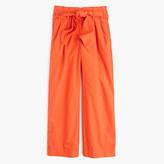 J.Crew Cotton poplin tie-waist pant