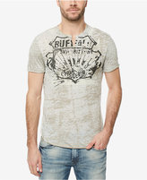 Buffalo David Bitton Men's Split-Neck Graphic-Print T-Shirt