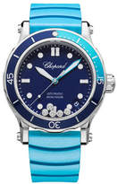 Chopard 40mm Happy Ocean Sport Medium Watch with Diamonds, Blue/Turquoise