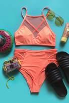 Forever 21 Netted Crisscross Bikini Top