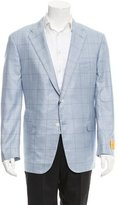Hickey Freeman Glen Plaid Two-Button Blazer w/ Tags