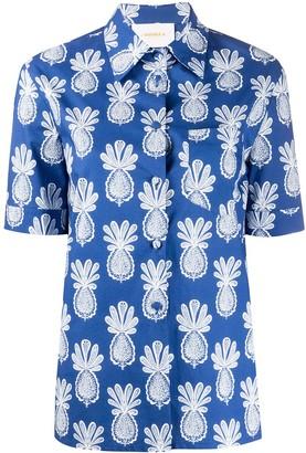 La DoubleJ Clerk pineapple print shirta g