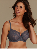 M&S Collection 2 Pack Textured & Lace Non-Padded Balcony Bra DD-GG
