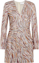 Zuhair Murad - Sequined Faille Mini Dress - White