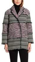 French Connection Women's Pixel Mix Cotton Long Sleeve Coat,14
