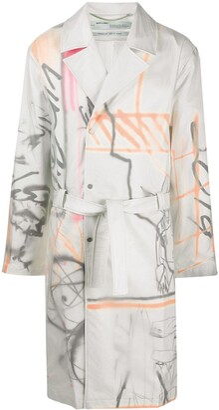 Off-White Futura trench coat