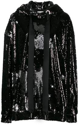 Marques Almeida Marques'Almeida oversized sequin-embellished hoodie