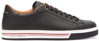 Dolce & Gabbana Portofino Low Top Leather Trainers - Mens - Black Multi