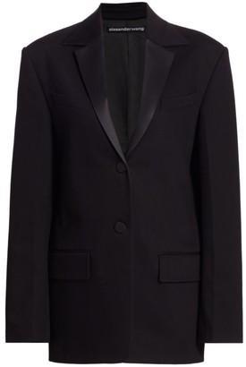 Alexander Wang Boxy Single-Breasted Tuxedo Jacket