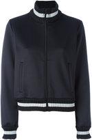 Off-White contrast stripe bomber jacket