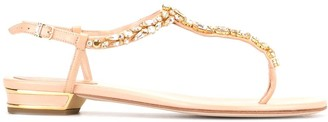 Rene Caovilla Embellished Thong Sandals