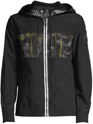 Moose Knuckles University Graphic Windbreaker Jacket