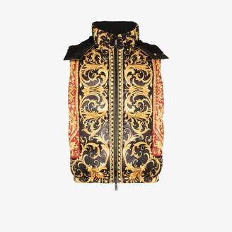 Versace printed padded reversible gilet