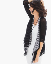 Chico's Mesh-Stripe Drape Jacket