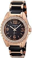 Akribos XXIV Women's AK514RG Crystal-Accented Two-Tone Watch with Link Bracelet