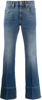 Gucci High-Waisted Bootcut Jeans