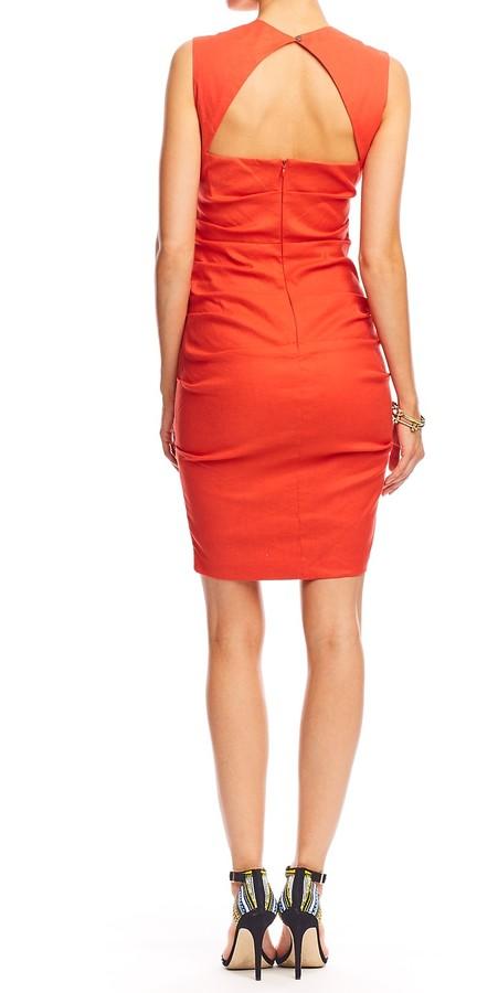 Nicole Miller Felicity Stretch Linen Dress