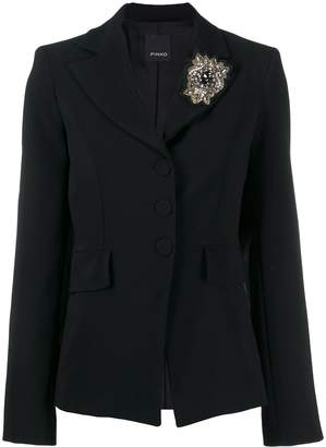 Pinko crystal single-breasted blazer