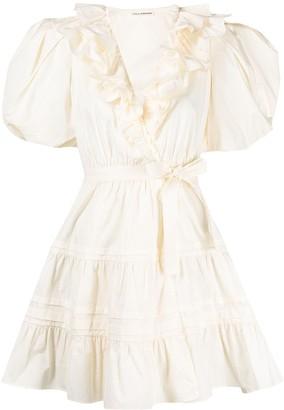 Ulla Johnson ruffle-detail V-neck dress