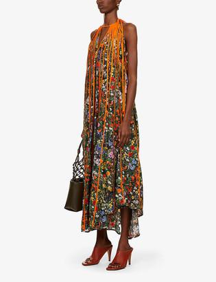 Stella McCartney Kiara floral-print sleeveless silk gown