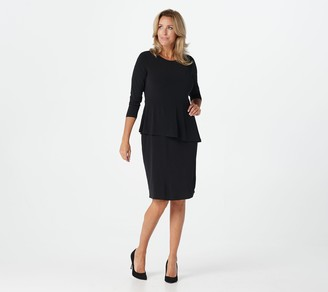 Susan Graver Every Day by Liquid Knit Peplum Dress