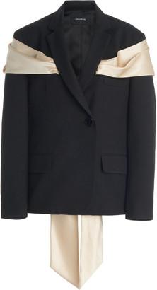 Simone Rocha Bow-Embellished Wool-Blend Blazer