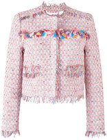 MSGM tweed jacket - women - Cotton/Linen/Flax/Acrylic/other fibers - 42