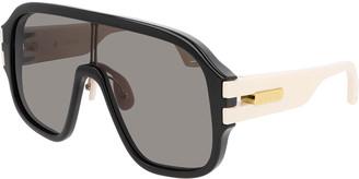 Gucci Men's Two-Tone Injection Shield Sunglasses