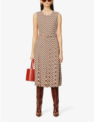 Diane von Furstenberg Liliana scoop-neck graphic-print woven maxi dress