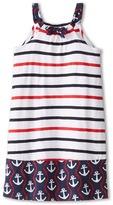 Hatley Nautical Stripes Shirred Dress (Toddler/Little Kids/Big Kids)