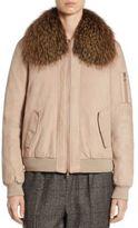 Brunello Cucinelli Fox Fur & Suede Bomber Jacket