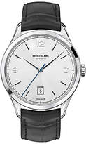 Montblanc 112533 Heritage Chronométrie Alligator Strap Watch, Black/silver