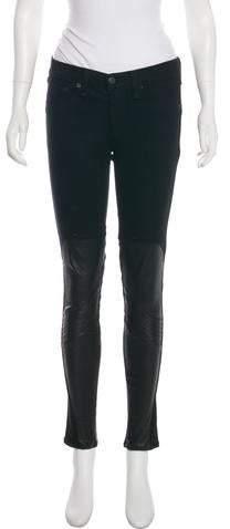 3e4fd689386a Faux Leather Front Jeans - ShopStyle
