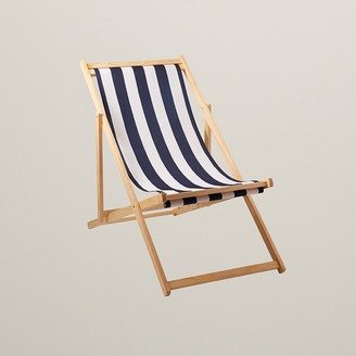 Indigo Folding Sling Chair Navy Stripe