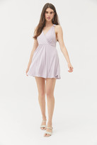 Urban Outfitters Downtown Cupro Cross-Back Mini Dress