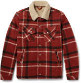 Nudie Jeans - Lenny Faux Shearling-lined Checked Wool-blend Jacket