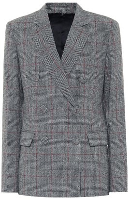 Helmut Lang Prince of Wales checked wool blazer