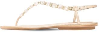 Rene Caovilla 10mm Embellished Satin Thong Sandals