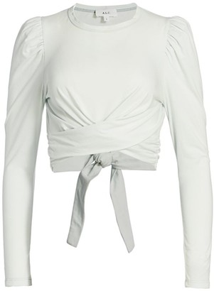 A.L.C. Mandy Tie Long-Sleeve Cropped Top