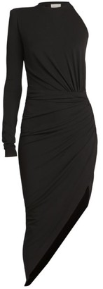 Alexandre Vauthier One-Shoulder Jersey Sheath Dress