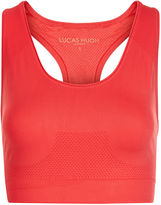 Lucas Hugh Coral Red Technical Knit Sports Bra