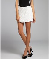 Parker white embellished silk mini skirt