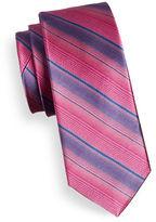 Black Brown 1826 Gradient Stripe Silk Tie