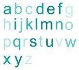 Wall Candy Arts Ombre Alphabet Wall Decal in Teal (Set of 26)