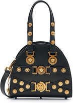 Versace Top Handle Embellished Leather Bag